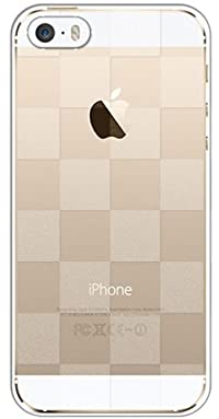 iphone5s iPhone 5s ケース クリア 透かし半透明 ブロックチェック 市松 アイフォン ハードケース au softbank docomo