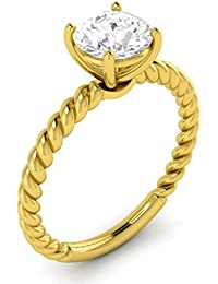 Vijisan Solitaire Collection 2.00 Ct. 925 Sterling Silver Single Stone Promise Solitaire Engagement Ring For Women...