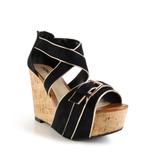 TRACY Cork Wedge Sandals