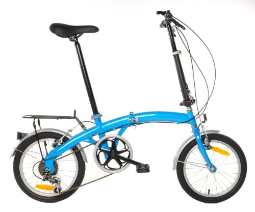 APEX Folding Bike Shimano 6 Speed with Rack & Fenders