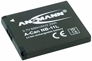 Ansmann 1400-0028 3.7 Volt A-Can NB11L 600mAh Lithium Replacement Battery for Canon PowerShot A2300/A4000 IS