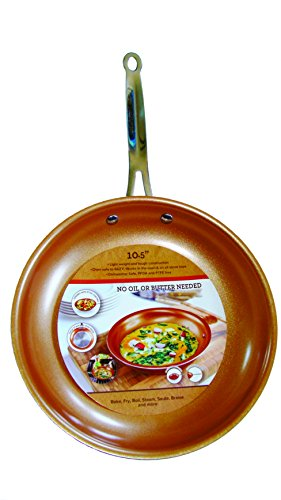 Cooper Frying Pan 10.5 Inch Non Sick Ceramic Infused Titanium Steel Oven Safe, Dish Washer Safe, Scratch Proof (Coated Frying Pan compare prices)