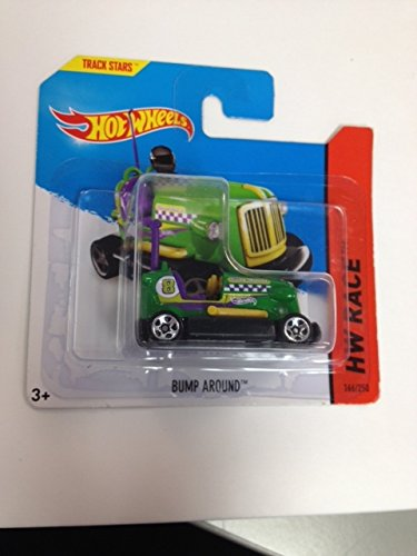 Hot wheels Bump Around Short card Rare Green Track stars Hw Race 166/250 new in package - 1