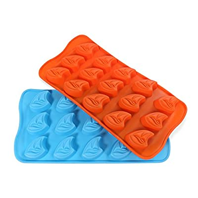 Candy Making Molds, 2PCS YYP [15 Cavity Sailboat Shape Mold] Silicone Candy Molds for Home Baking - Reusable Silicone DIY Baking Molds for Candy, Chocolate or More, Set of 2