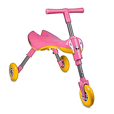 TriBike Toddlers' Foldable Indoor-Outdoor Glide Tricycle Ride On - No Assembly Required - Easy To Store by TriBike