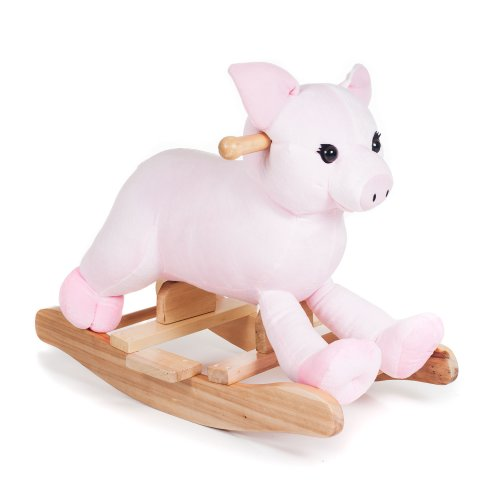 Happy Trails Plush Rocking Hamlet Pig Ride On - 1