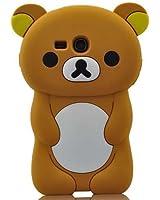 Marron 3D Ourson �tui Coque Housse En Silicone pour Samsung Galaxy S3 Mini i8190