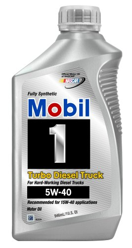 Special price mobil 1 44986 turbo diesel truck 5w 40 motor oil 1 quart pack of 6 automotive Best price on motor oil