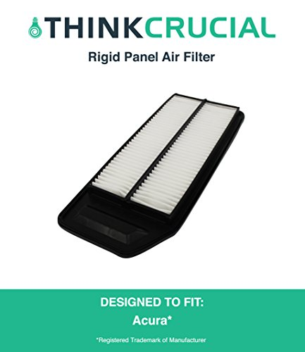 Rigid Panel Air Filter Fits Acura TSX & Honda Accord, Compare to Part # A25503 & CA9564, Designed & Engineered by Think Crucial (Tsx Parts compare prices)