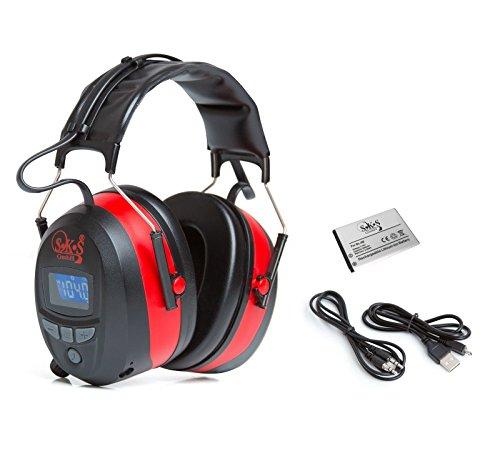 SKS-1190-Gehrschutz-Bluetooth-FM-Radio-4G-Speicher-AUX-Anschluss-Kabel-USB-Ladekabel-Kopfhrer-inkl-Akku