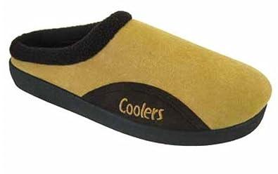 Mens Coolers Brand Microsuede Slip On Mule Clog Slipper 361 UK 7 Tan