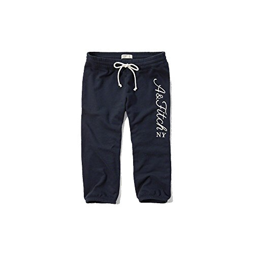 Abercrombie & Fitch Banded Crop Pantaloni in Navy - Nuova Collezione Navy S