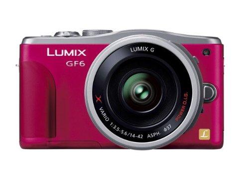 Panasonic ルミックス ミラーレス一眼カメラ ルミックス GF6 レンズキット 電動標準ズームレンズ付属 レッド DMC-GF6X-R