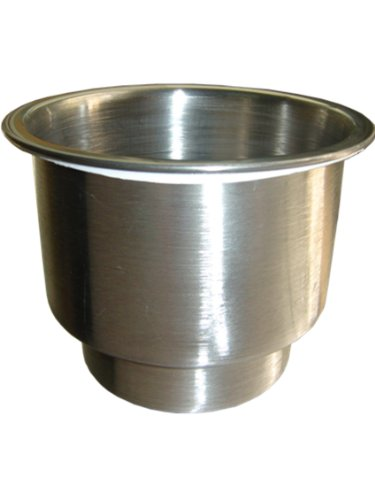 Amarine-made Stainless Steel Cup Drink Holder with Drain Marine Boat Rv Camper