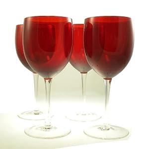 Amazon.com | The Cellar Glassware, Set of 4 15 Oz Red Wine ...