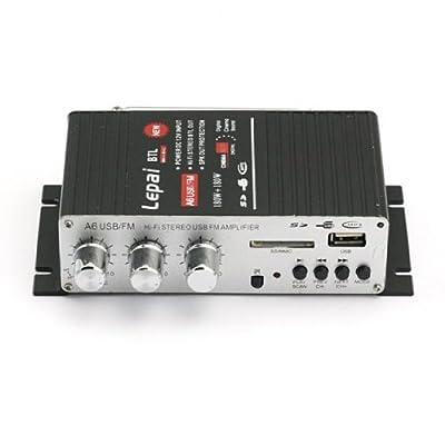 Lepai LP-A6USB Hi-Fi Stereo Audio Verstärker Amplifier Für Auto Motor CD DVD (Netzteil enthaltend) von Sain Store Inc bei Reifen Onlineshop
