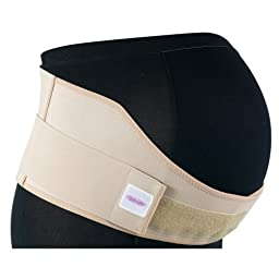 Gabrialla Elastic Maternity Support Belt (Medium Support), Large, Beige