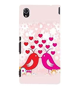 printtech Love Birds Couple Back Case Cover for Sony Xperia M4 Aqua::Sony Xperia M4 Aqua Dual