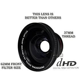 + 3 Piece Lens Filter Kit + Nwv Direct Microfiber Cleaning Cloth 37mm Sony HDR-XR520V High Definition 0.45x Wide Angle Lens w//Macro 37mm
