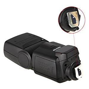 Jueying Professional Flash Speedlight Viltrox JY620 Wireless Flash Speedlite for Standard Hot-shoe Camera / Sony and Minolta Camera Need an extra hot-shoe adapter (the adapter is not included) / Cannon EOS 5D 10D 20D 30D 40 50 60D 7D 600D 550D 500D 1100D / Nikon D700 D7000 D5100 D3000 D4 D800 D600 / Olympus Panasonic