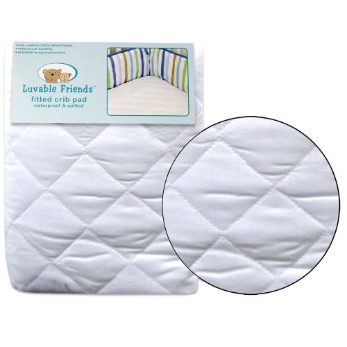 Luvable Friends Lock-Stitched & Quilted Fitted Crib Pad