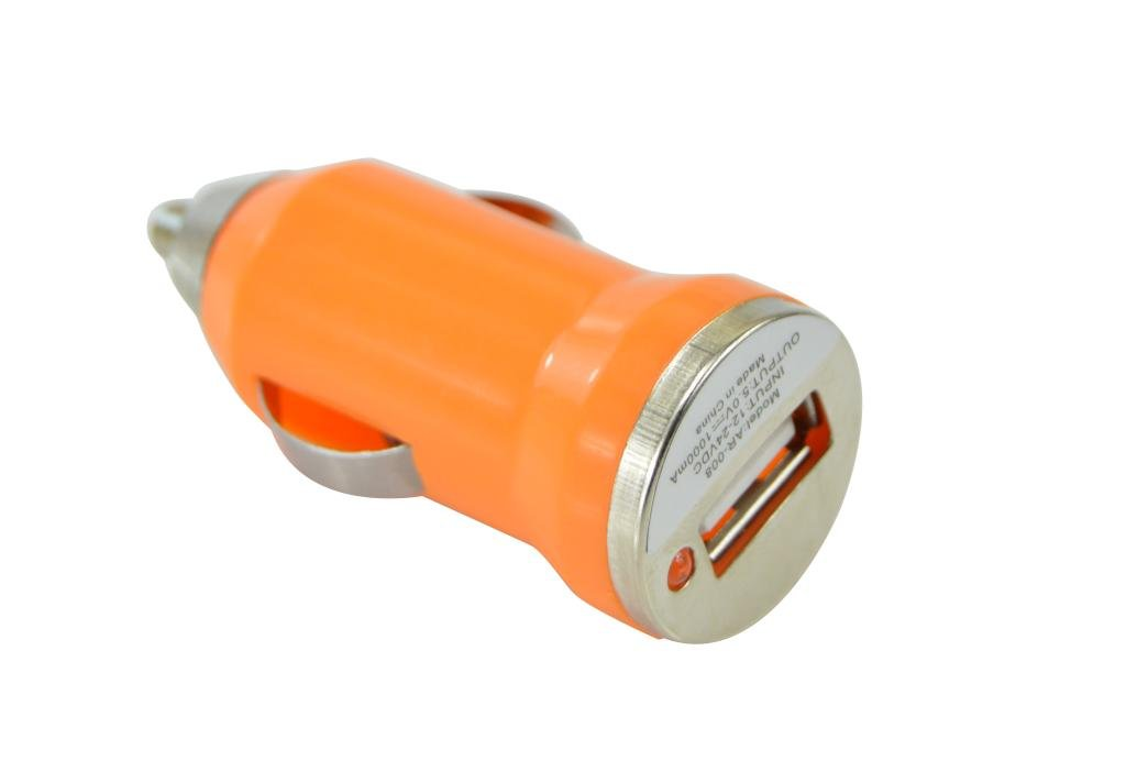 Generic Dual USB Car Charger Plastic for Apple and Android Devices Color Orange generic
