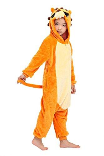 [XMiniLife Lion Adult/Kids Animal Cosplay Onesie 125#/Height135-145cm] (Spyro The Dragon Halloween Costume)