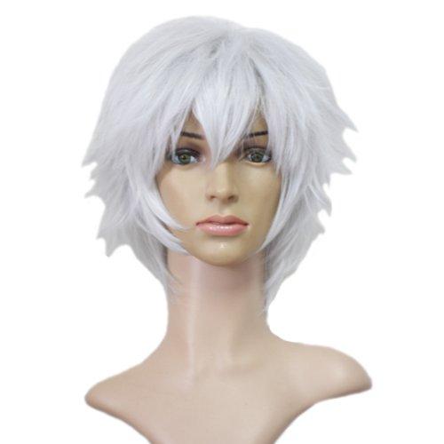 Angelaicos Cosplay Halloween Costume Wig for Future City No.6 Shion Short White