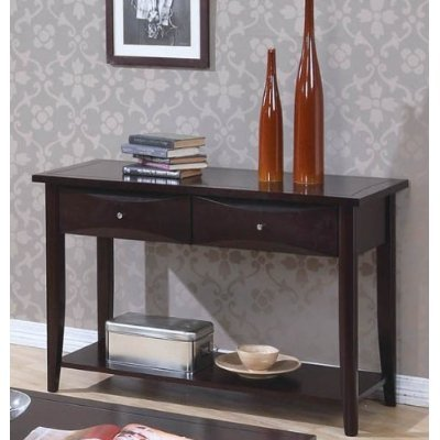 Whitehall Sofa Table With Storage Drawers In Cappuccino