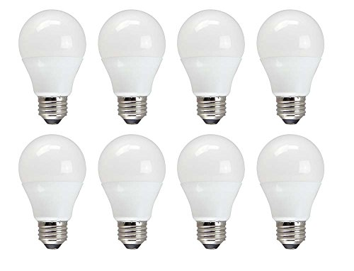TCP 60 Watt Equivalent 8-pack, Value LED A19 Standard Shaped Light Bulbs, Non-Dimmable, Daylight, RLVA6050ND8 (Tcp Led Bulbs compare prices)
