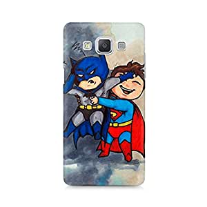 Ebby Batman and Superman Kids Premium Printed Case For Samsung A5