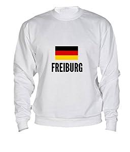 Sweatshirt Freiburg city White