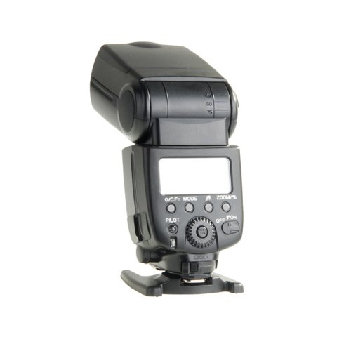 Wireless Flash Speedlite / Speedlight with LCD Display for Canon 5D2 5D Mark II III / Nikon D7000 D5200 D5100 D5000 - Black