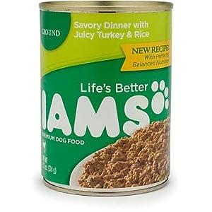 Iams Savory Turkey and Rice Ground Adult Canned Dog Food