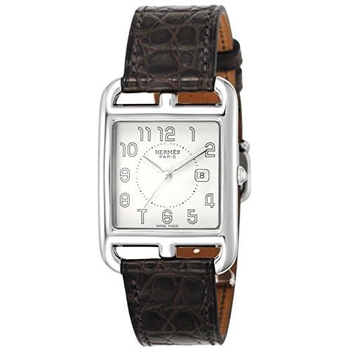 [エルメス]HERMES 腕時計 ケープコッド シルバー文字盤 アリゲーター革 CC2.710.220/MHA メンズ 【並行輸入品】