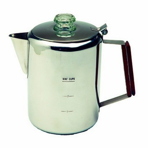 Texsport - Stainless Steel Percolator, 9 Cups