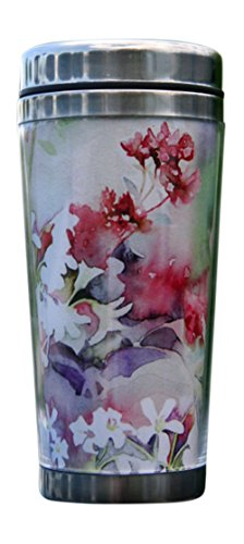 Designer Travel Mug for Stylish Women. This Attractive, Pretty Design Will Be Admired in Any Setting