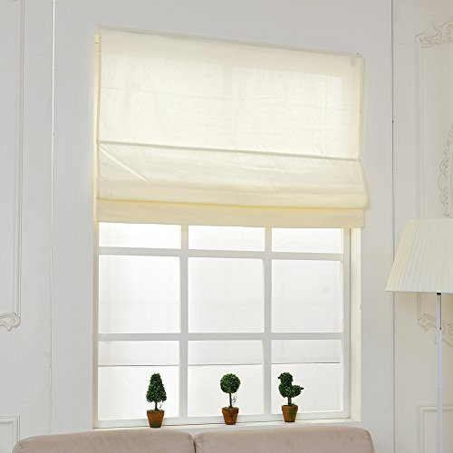 top finel cotton window treatments roman shades blinds 32 With 32 inch roman shades