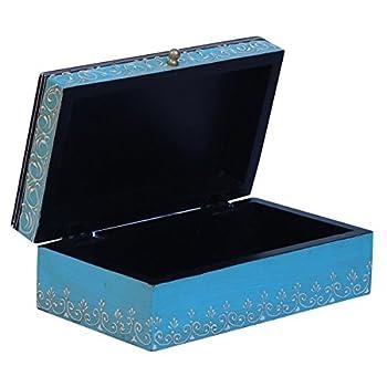Jewelry Box Wooden Stylish Storage Keepsake Box with CONE PAINTING ART