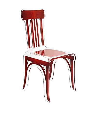 ACRILA Bistrot Chair, Red Wood