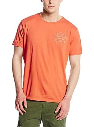 Springfield Camiseta Manga Corta (Naranja)