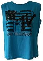 dames MTV Music télévision impression Haut sans manches femmes de culture t-shirt cropped top d'été