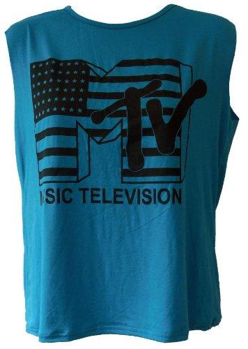 dames-mtv-music-television-impression-haut-sans-manches-femmes-de-culture-t-shirt-cropped-top-dete-s