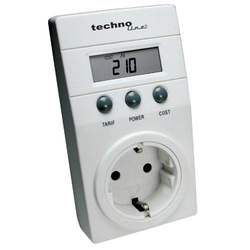 Medidor de consumo eléctrico color blanco