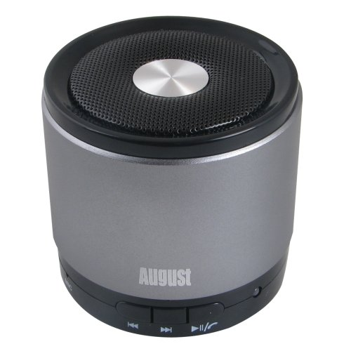 August Ms425 Portable Bluetooth Wireless Speaker With Microphone - Powerful Wireless Speaker And Cell Phone Hands Free Kit - Compatible With Iphones, Samsung, Galaxy,Nokia, Htc, Blackberry, Google, Lg, Nexus, Ipad, Tablets, Mobile Phones, Smartphones, Pc'