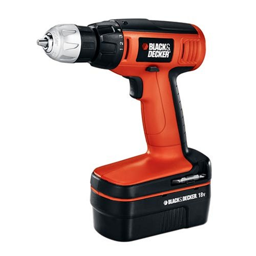 Black & Decker CDC180ASB 18-volt Compact Drill with 20 Accessories