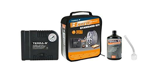 TERRA-S-Reifenpannenset-STANDARD-KIT-SCHWARZ-mit-Kompressor-und-700ml-Dichtmittel