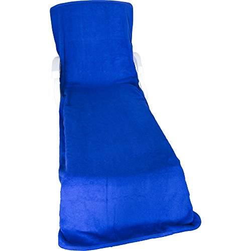 fy Robes Terry Chaise Lounge Chair Cover Royal Blue Apparel Accessories C