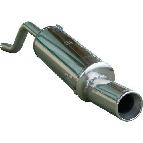 InoXcar FIPN.24.102 Sport Endschalldämpfer aus Edelstahl mit Endrohr für Fiat Grande Punto 1.4 / 1.4, 16 V, ab Baujahr 05, 102 mm