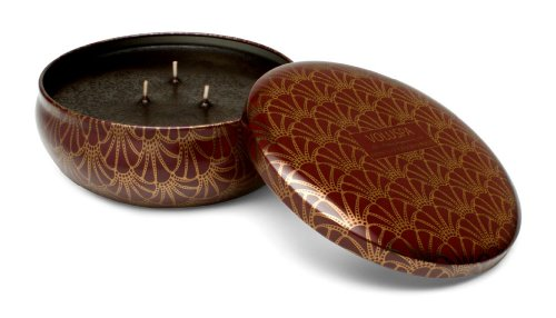 Voluspa Decorative 3 Wick Candle inTin/ French Bourbon Vanille, 12oz Tin